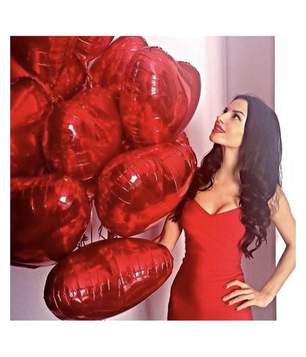 """Фольгированные шары """"Красные сердца"""""""