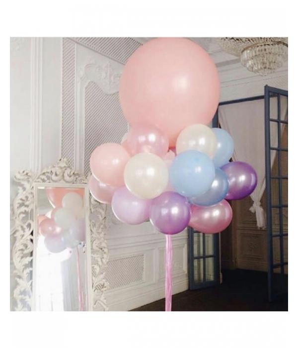 Букет из розовых шаров