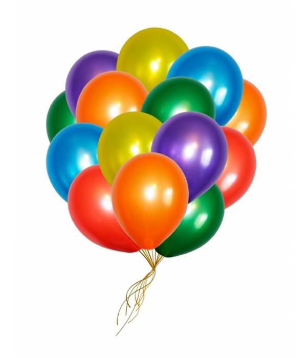 """Воздушные шары с гелием под потолок """"Ассорти металлик"""""""