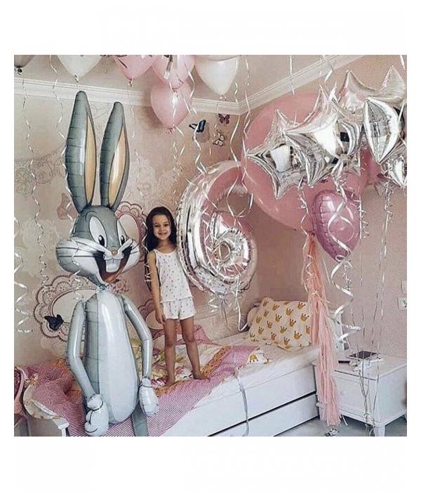 Композиция из шаров для девочек, Веселый день рождения
