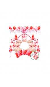 Микс свадебных шаров №12