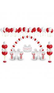Микс свадебных шаров №5