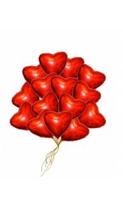 """Воздушные шары """"Сердца фольгированные"""""""